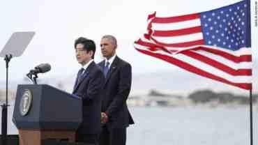 जपानी प्रधानमन्त्रीको पर्ल हार्बरको भ्रमण ऐतिहासिकः ओबामा।