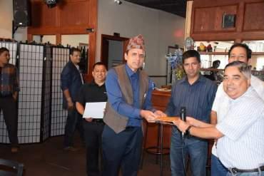 नेपाली घरको नव निर्वाचित पदाधिकारीलाइ कार्यभार हस्तान्तरण
