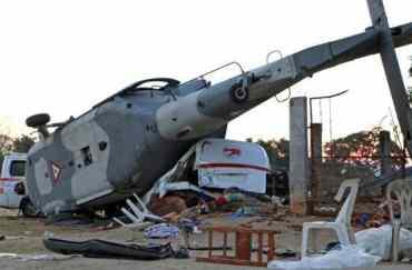 मेक्सिकोमा बरिष्ठ कर्मचारी चढेको हेलिकप्टर दुर्घटना , १४ जनाको मृत्यु