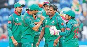 पानी परेपछि रोकियो श्रीलंका र बंगलादेशको खेल
