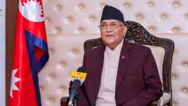 NCP Chairmen Oli, Dahal sit for talks to resolve intraparty dispute