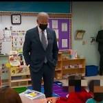 【拜登參觀新州學前班指導學生當總統要學避答記者問】