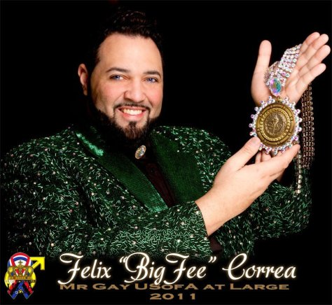"Felix ""Big Fee"" Correa Mr Gay USofA At Large 2011"