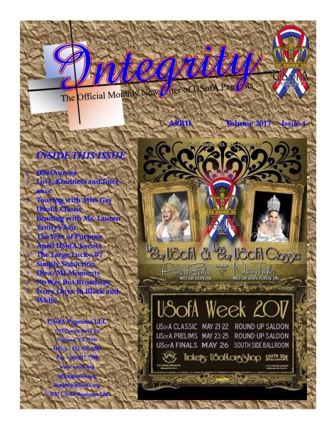 USofA Pageants Integrity Newsletter April 2017