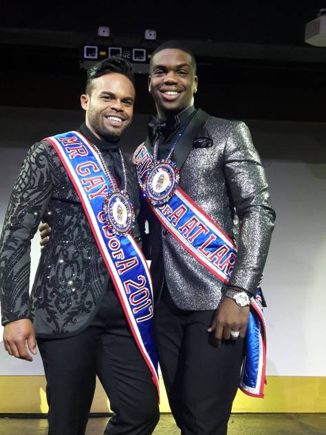 Dione Kelly & Ade' Tajoure (Mr. Gay USofA 2017 & Mr. Gay USofA At Large 2017)
