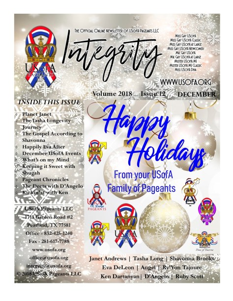 USofA Pageants Integrity Newsletter December 2018