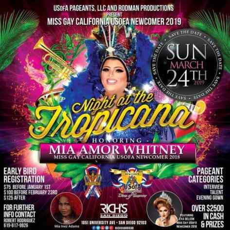 Miss Gay California USofA Newcomer 2019