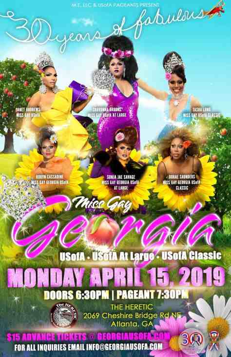 Miss Gay Georgia USofA 2019 Triple Crowning