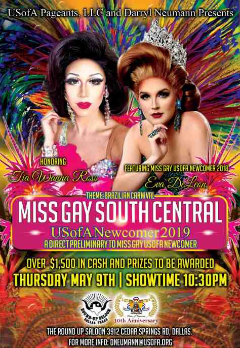 Miss Gay South Central USofA Newcomer 2019