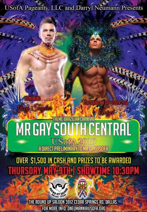 Mr Gay South Central USofA 2019