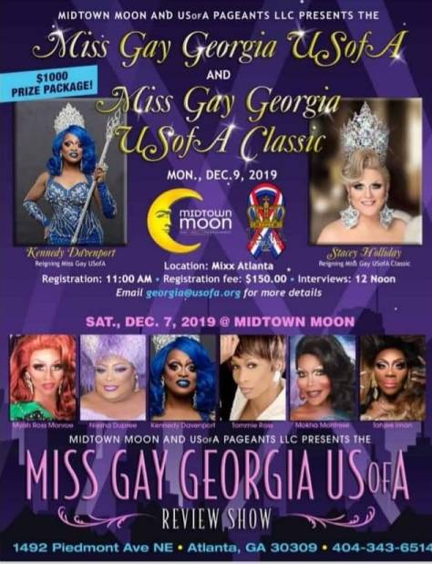 Miss Gay Georgia USofA 2020 & Miss Gay Georgia USofA Classic 2020