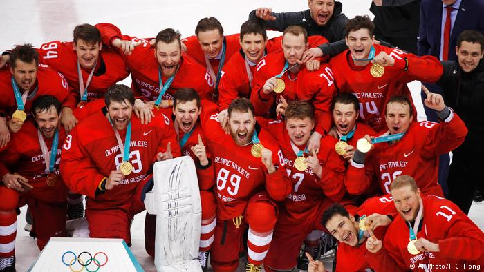 Image result for russian hockey team wins 2018