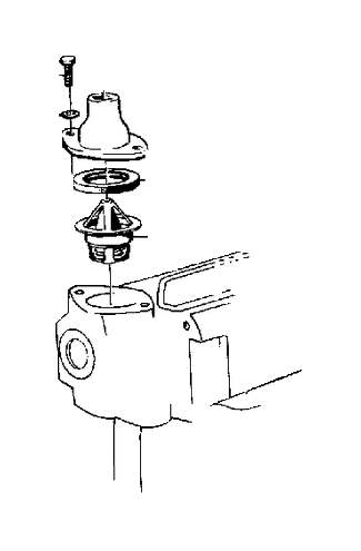 1982 Volvo Thermostat Kit. B20, 87%C 189%F. Cooling System