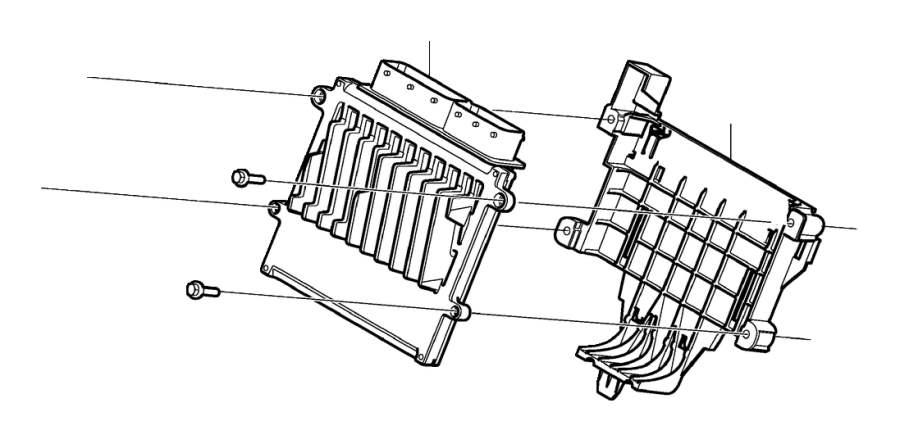 2013 Volvo XC90 Engine Control Module Bracket. 8CYL