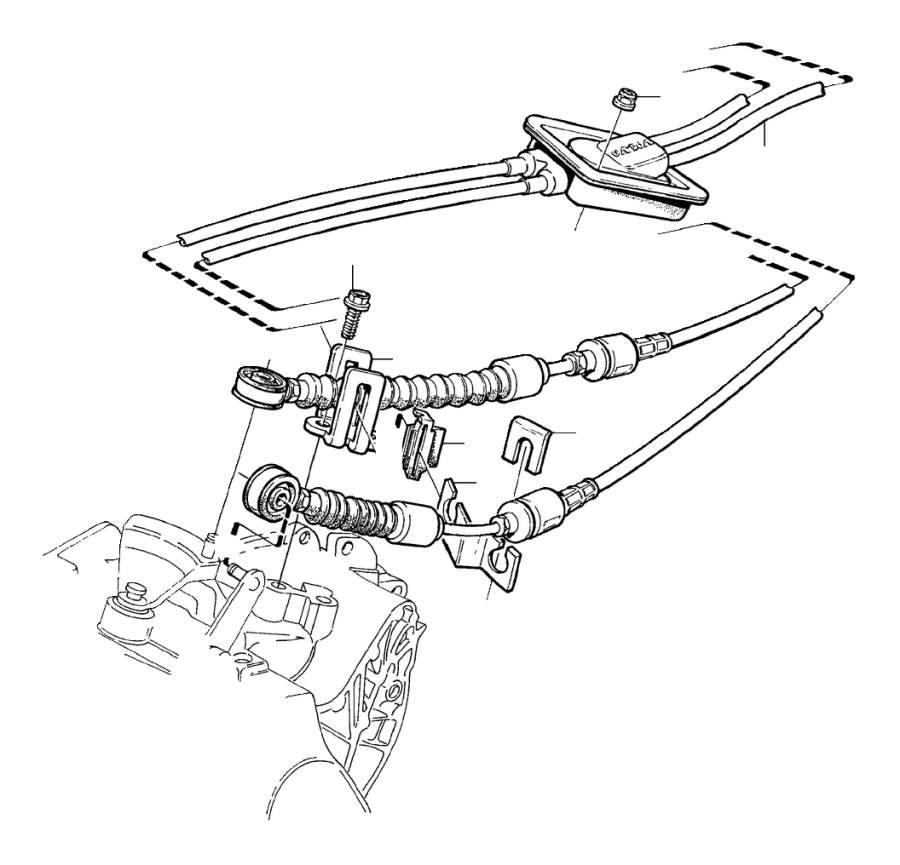 2002 Volvo C70 Bracket. Manual, Gearbox, Transmission