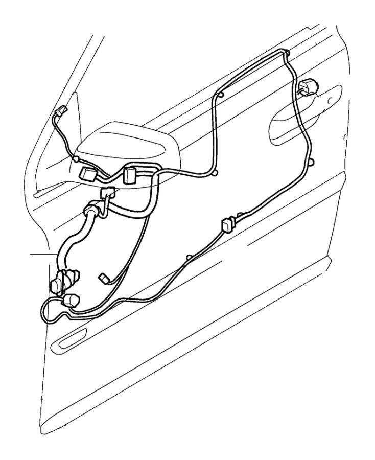 Volvo XC90 Wiring Harness. Cable Harness driver's Door
