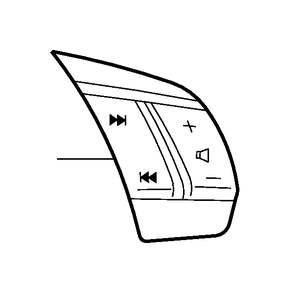Volvo V70 XC Steering Wheel Radio Controls (Inner