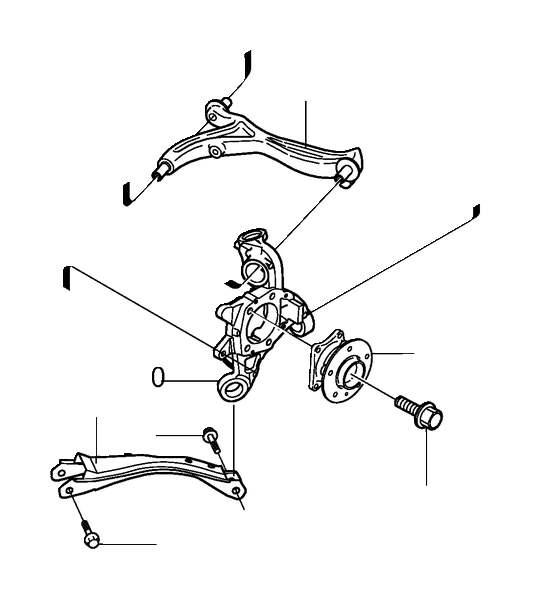 1992 Volvo 740 Flange screw. Rear, Suspension, Final