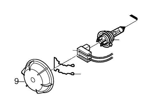 Volvo S60 Headlight Wiring Harness Connector. INSULATOR