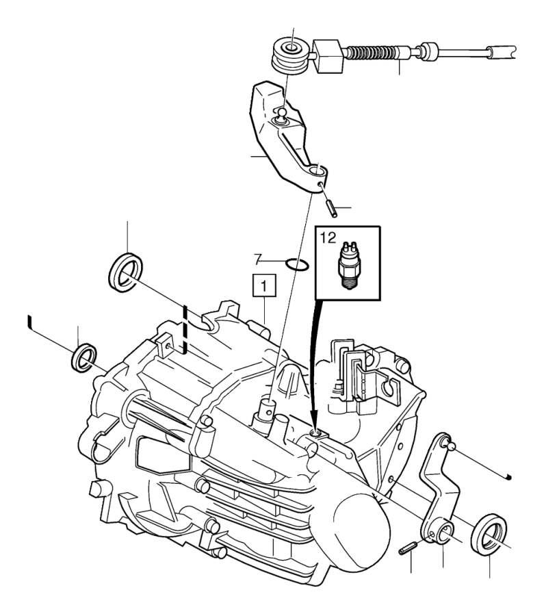 2001 Volvo V70 Spring pin. Manual, Gearbox, Transmission