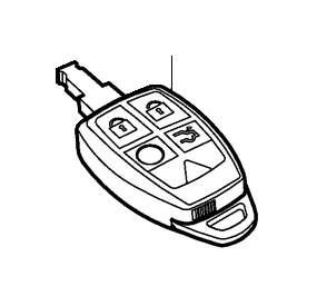 2011 Volvo C70 Remote control. System, Key, Keyless, MHz