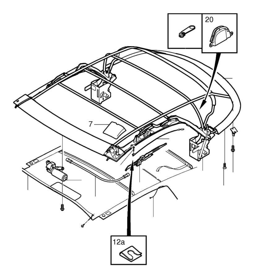 2000 Volvo C70 Roof. Soft Top. C70 CONV. Interior, Body