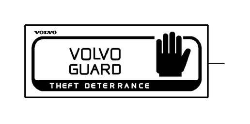 1993 Volvo 850 Engine Sticker. Decal. Alarm, Decals, Guard