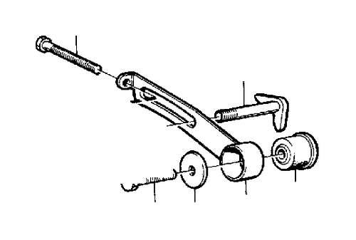 1988 Volvo 240 Tensioning Arm. Alternator. B19, B23. B200