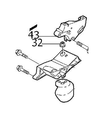 Volvo V70 XC Manual Transmission Mount (Rear). ENGINE