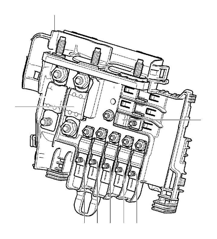 2016 Volvo XC60 Section. Primary Relay and Fuse Box Engine