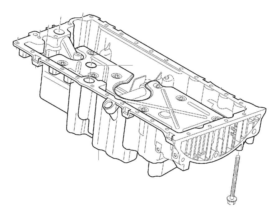 2004 Volvo XC90 Engine Oil Pan Gasket. O-RING. O Ring. Oil