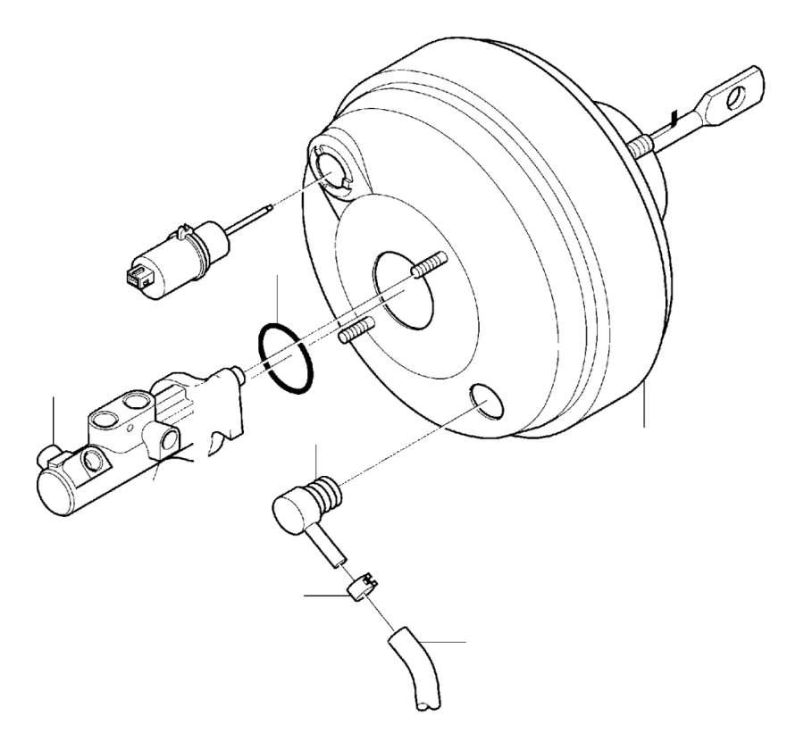 2002 Volvo V70 XC Power cylinder. Master, DSTC