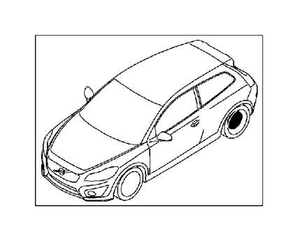 2009 Volvo C30 Brake caliper, exch. Rear, Wheel, Right
