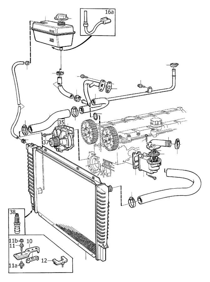 2002 Volvo V70 2.4l 5 cylinder Engine Coolant Overflow