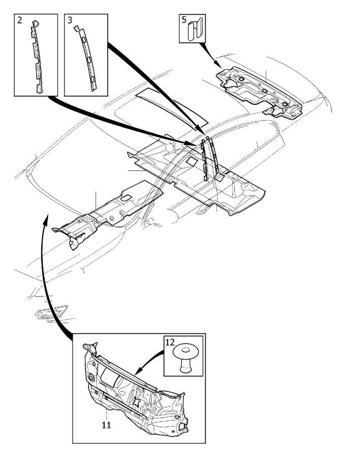 2001 Volvo V70 XC Panel. DVD. Interior Trim Luggage