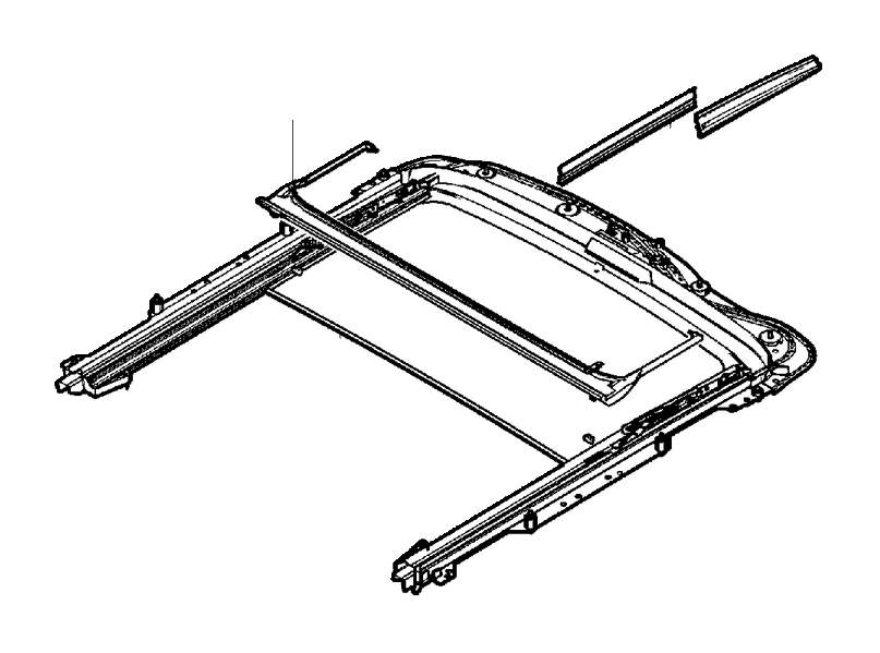 2008 Volvo V70 Sealing Strip. Complete. Roof Hatch