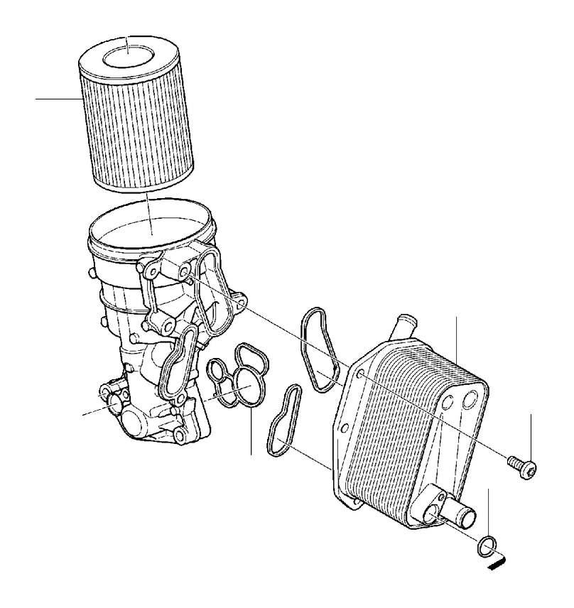 2014 Volvo XC90 Oil filter insert. Service, Mile, System
