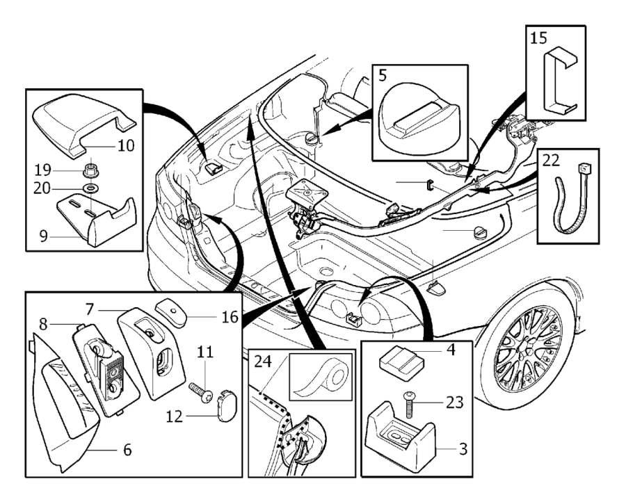 2008 Volvo Bracket. Interior Trim Luggage Compartment