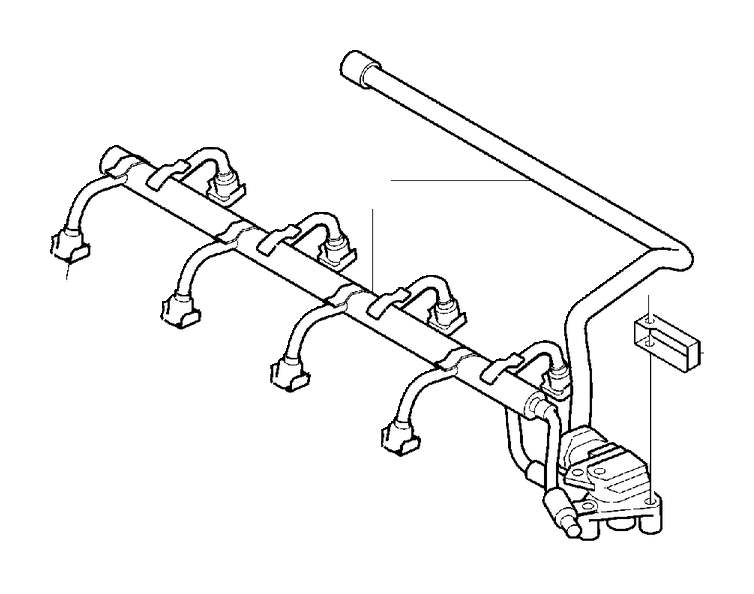 Volvo XC90 Fuel Pipe. Injector and High Pressure Line