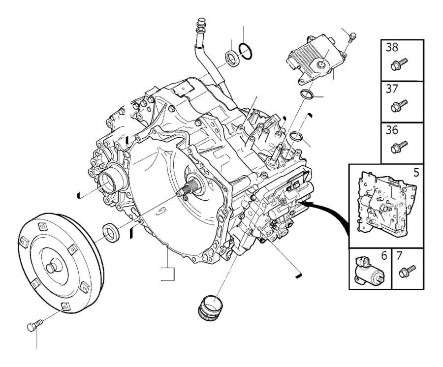 2009 Volvo V70 Automatic Transmission Control Solenoid