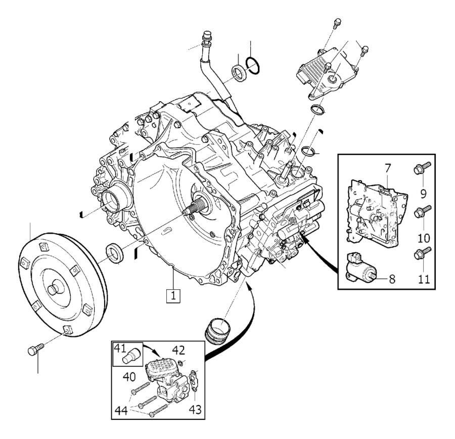 2011 Volvo Automatic Transmission Torque Converter