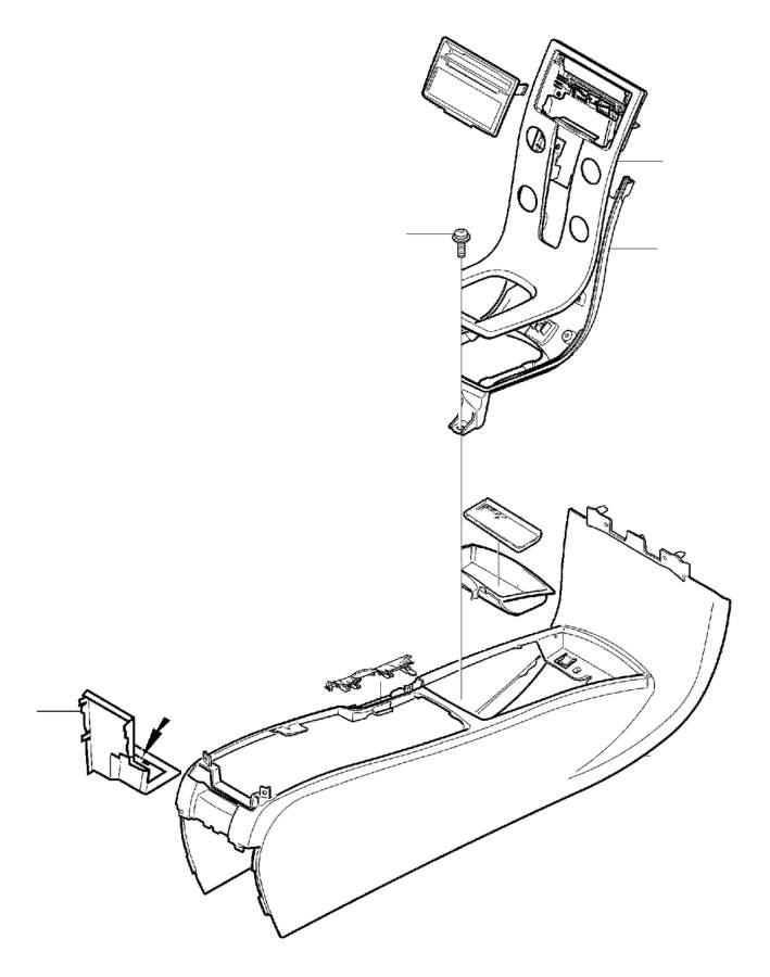 Volvo C30 Console Trim Panel Cap. 2008. CH 138730. CH