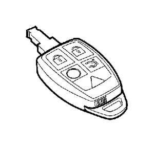2011 Volvo C70 Remote control. System, Keyless, Key