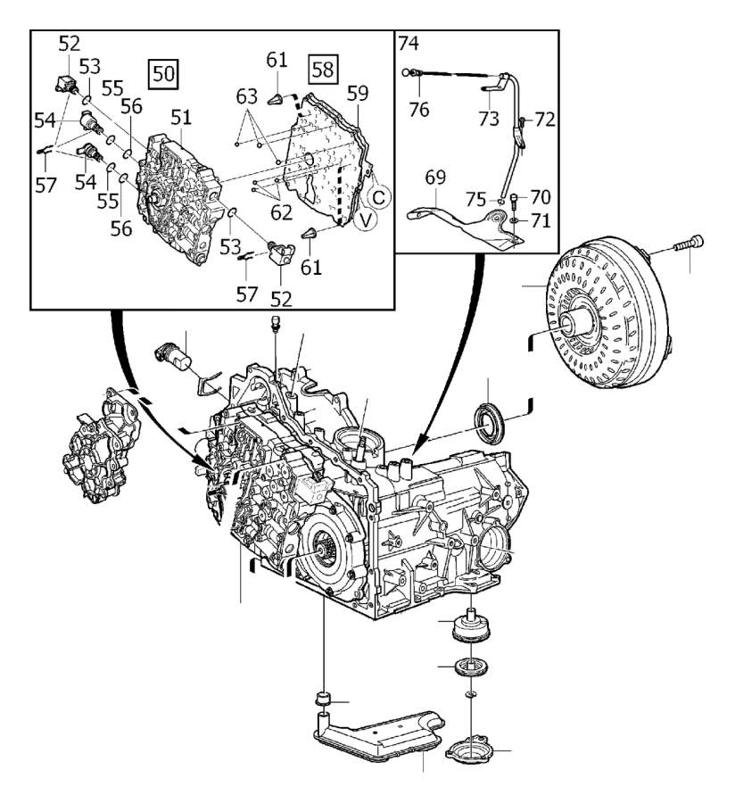 2001 Volvo S80 Gasket. Gearbox, Automatic. Transmission