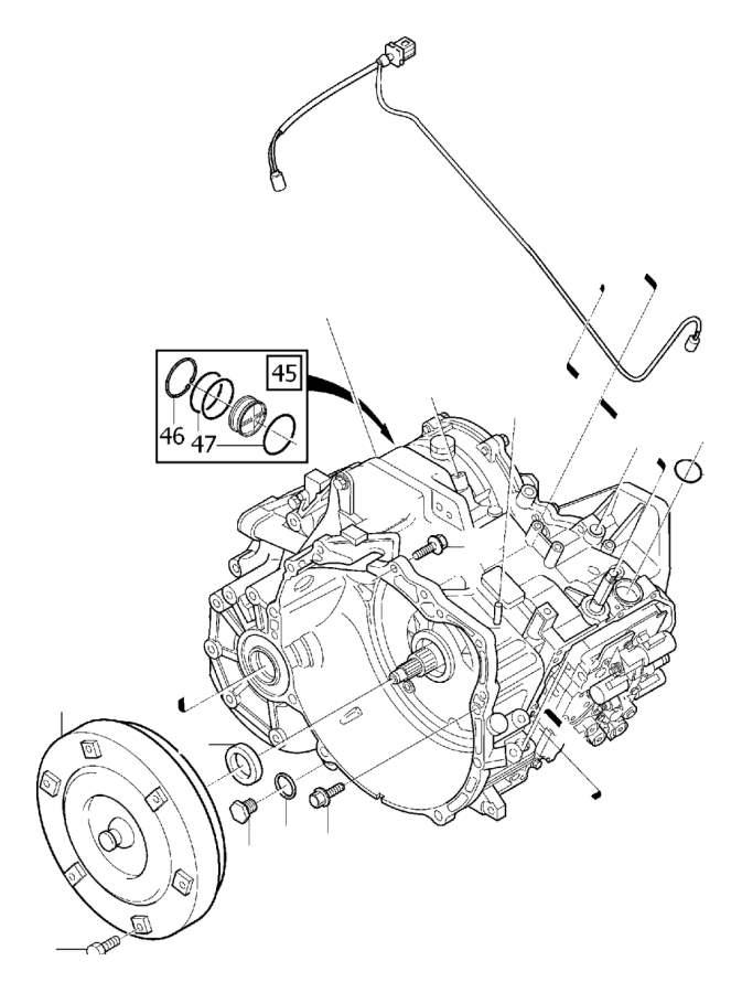 Volvo V70 XC Drain plug. Automatic, Transmission, Gearbox