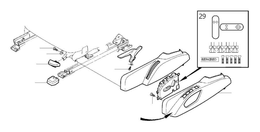 Volvo XC60 Seat Trim Panel (Left, Front, Interior code