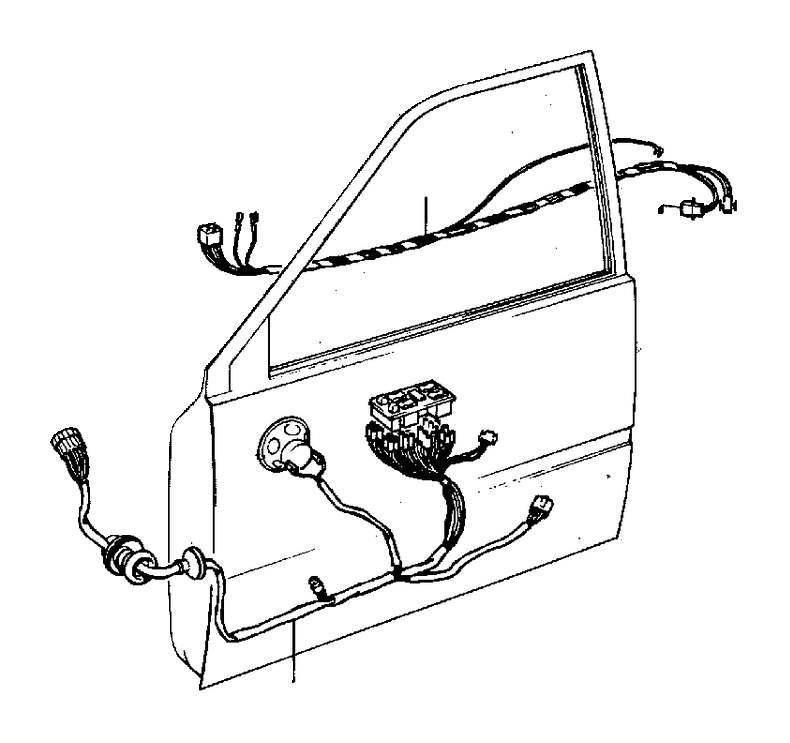 Volvo 740 Wiring harness. Genuine Classic Part. Door