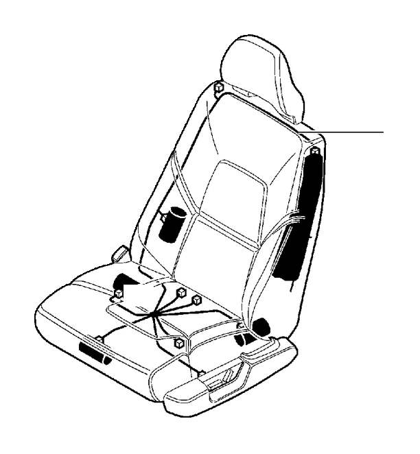 Volvo XC90 Cable Harness, Seat. (Left, Front). With Memory