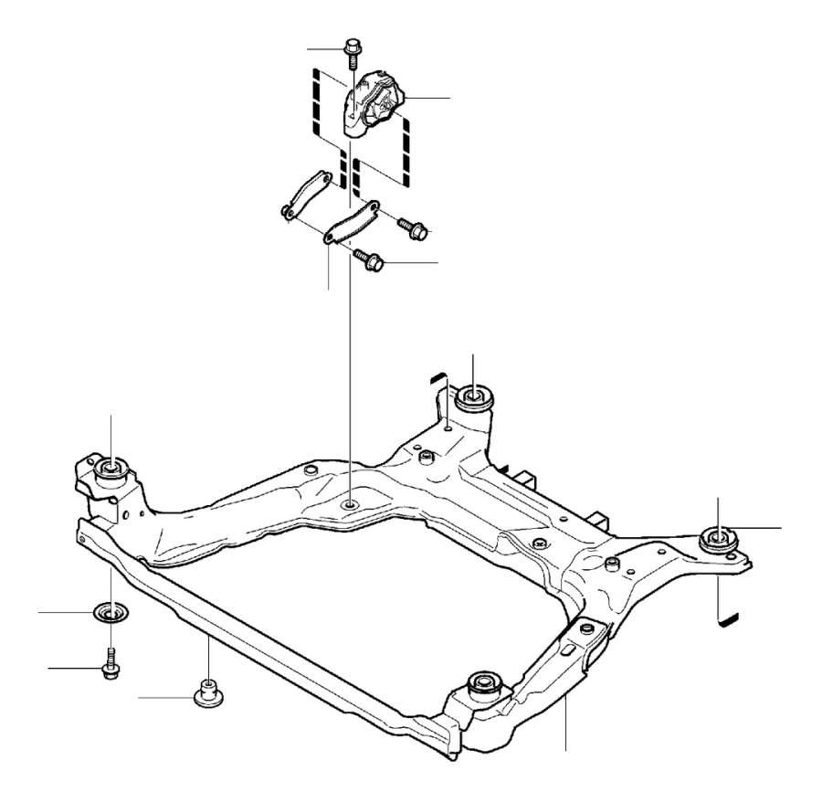 2008 Volvo Bushing. Engine, Mountings, Lower, Manual
