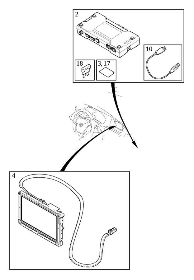 Volvo S60 Harness. Infotainment Control Module (ICM